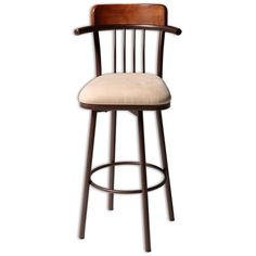 Metal Barstools Augusta Wood and Metal Barstool by Fashion Bed Group