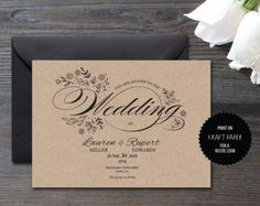 Gold Invitation Gold Wedding Invitation Tree Invitation - 5x7 invitation template word