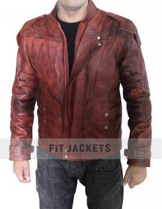 Guardians of the Galaxy Star Lord 2 Jacket is worn by Chris Pratt in the movie Guardians of the Galaxy Vol 2. Available in Real Leather Screen Accurate Design!!  #GuardiansoftheGalaxy2 #Movie #StarLord #ChrisPratt #MensFashion #MensJacket #Clothing #Fashion #Shopping #OnlineStore #Celebrity #geek #Cosplay #LealLeather #LeatherOutfit #MensWear