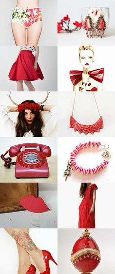 ♥ Lady in Red ♥ by Noa Avneri on Etsy--Pinned with TreasuryPin.com