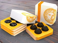 Squeezable, sustainable chocolate packaging.