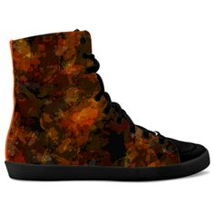 #Shoes #Sneakers #Sandshoes #Fire #FireSneakers Fire embers by Mannzie sold at idxshoes.com - Streetwear Sneakersidxshoes.com - Hidden Wedge Hi-Tops High Top Sneakers, Shoes Sneakers, Designer Shoes, Streetwear, Wedges, Fire, Tops, Fashion, Loafers & Slip Ons