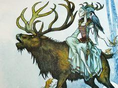 Kirjojen keskellä: Pohjoismaiset taruolennot  Metsänhaltija on kaunis, sarvistaan ja sorkistaan huolimatta.