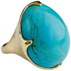 Ippolita 18k Rock Candy Crown Ring in Turquoise ($5,220) ❤ liked on Polyvore featuring jewelry, rings, turquoise, turquoise band ring, ippolita ring, turquoise ring, band rings and turquoise jewelry