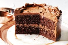 Like a little black dress or a classic car, the chocolate cake never goes out of style. Go on, you know you want to.