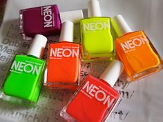neon nailpolish u can get these at american apparel i have the yellow one