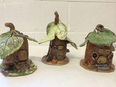 ceramic fairy houses  |  www.smallhandsbigart.com by small hands big art