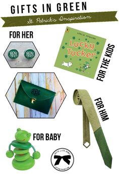 Gifts in Green :: St. Patricks Day :: as featured on Gifts with Bows #giftswithbows #GWB @habausa @etsy