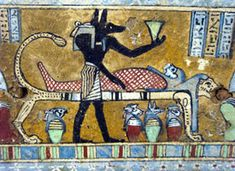 Anubis at the mummification of the dead copyright Andre