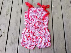 Sewing Patterns for Girls Dresses and Skirts: Romper Sewing Pattern, Pillowcase Bubble Romper