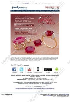 Company: Jewelry Television   Subject: Free Shipping this weekend + Mahaleo Ruby Anniversary Deals & Debuts  INBOXVISION, a global email gallery/database of 1.5 million B2C and B2B promotional email/newsletter templates, provides email design ideas and email marketing intelligence. www.inboxvision.c... #EmailMarketing  #DigitalMarketing  #EmailDesign  #EmailTemplate  #InboxVision  #SocialMedia  #EmailNewsletters