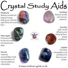 Crystal Set of Study Aids Crystal Healing Chart, Crystal Guide, Crystal Magic, Crystal Shop, Healing Crystals, Amethyst Crystal, Chakra Crystals, Crystals And Gemstones, Stones And Crystals