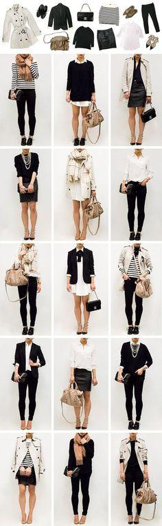 Базовый гардероб для женщин. Фото