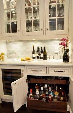alcohol storage kitchen - Google Search