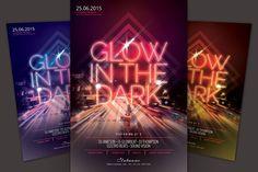 Glow In The Dark Flyer by styleWish on @creativemarket