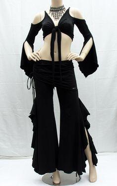 Urban Gypsy Apparel ★☽  New Styles! Gitana Flare pants & Corsetta top w/ Gypsy sleeves.