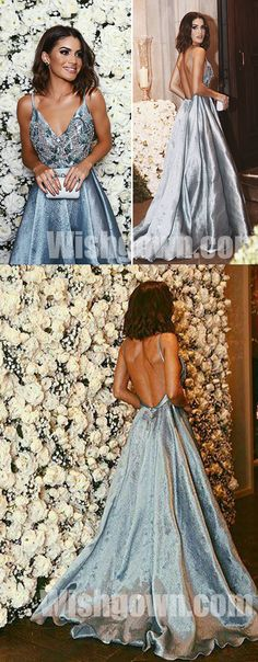 Popular Open Back Evening Inexpensive Long Prom Dresses, WG1081 #promdress #promdresses #longpromdress #longpromdresses #dress #dresses