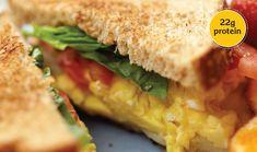 Scrambled Eggs, Tomato, Mozzarella, & Basil Sandwich : Sandwiches - Kids and parenting Italian Breakfast, Breakfast Time, Breakfast Recipes, Clean Breakfast, Egg Recipes, Cooking Recipes, Healthy Recipes, Quick Recipes, Cheese Recipes