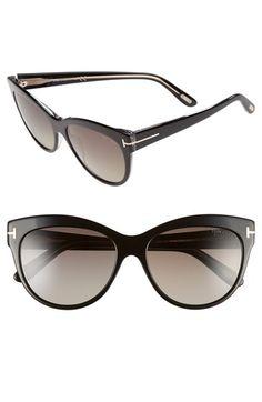 Tom Ford 'Lily' 56mm Polarized Cat Eye Sunglasses