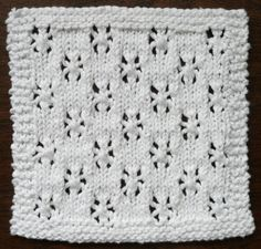 Perfect One-Ounce Dishcloth - FREE Patterns: FREE PATTERN #4 - SNOWFALL One Ounce Dishcloth