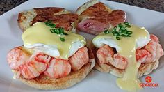 You can find this langostino eggs benedict recipe as well as others at http://www.seatechcorp.com/recipes.html