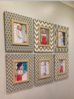 Set of 6 11x14 Distressed M O D Picture Frames by deltagirlframes Sherwin Williams Westchester Grey and Benjamin Moore Bennington Gray Trims