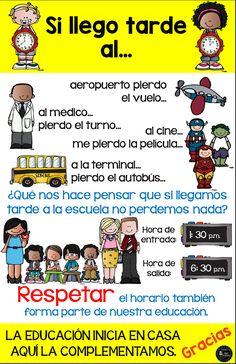 El Maestro Aldo Pruneda nos sorprende con estos Estupendos carteles o diseños para promover la puntualidad en la escuela primaria,