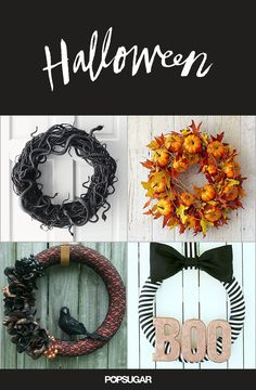 14 Halloween Wreaths You'll be Dying to DIY