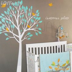 Vinyl Wall Sticker Decal - Garden Tree with Birds - 056