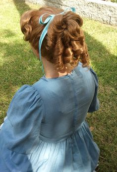 Wendy Darling from Peter Pan Adult Costume Wig by littlepennylane, $350.00