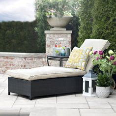 Shop Kirkland's online selection of outdoor seating for patio chairs, outdoor benches, and wicker furniture to create your own comfortable outdoor retreat. Outdoor Loungers, Outdoor Seating, Outdoor Sofa, Outdoor Living, Outdoor Decor, Wicker Furniture, Outdoor Furniture, Decks And Porches, Patio Chairs