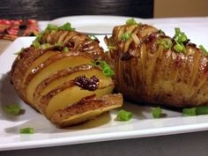 Papas Hasselback con bacon