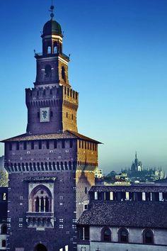 Castello Sfornisco di Milano, (part.) Torre del Filerete