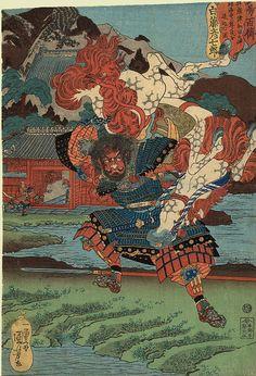 Kuniyoshi: White Horse I love Kuniyoshi prints. So magical