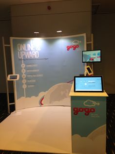 Gogo's booth at the Aircraft E-eNablement Conference in London.