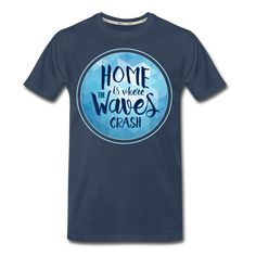 Men's Ocean Waves Premium Organic T-Shirt Ocean Waves, Men Fashion, Organic Cotton, Mens Tops, T Shirt, Shoes, Moda Masculina, Supreme T Shirt, Man Fashion