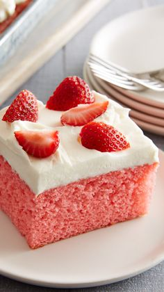 """Make this """"berry"""" delicious cake in a snap with a little help from our tender white cake mix. """"I made this cake for our Birthday Club at work and it was a HIT! Easy to make and delicious. Try this recipe - you won't regret it!!!"""" says Betty member Lcshu1955."""