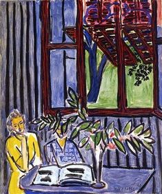 "stilllifequickheart: "" Henri Matisse Blue Interior with Two Girls 1947 "" Henri Matisse, Matisse Kunst, Matisse Art, Matisse Pinturas, Matisse Paintings, French Artists, Beautiful Paintings, Love Art, Van Gogh"