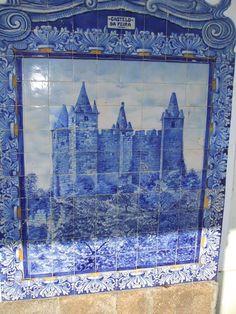 Portugal. Aveiro. Painel de azulejos na estação da CP Aveiro.