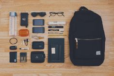 Backpack daily essentials. (via Chensio | VSCO Grid)