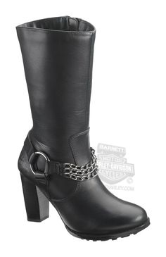 b09e90942e0f5 83661 - Harley-Davidson® Womens Claire Black Leather High Cut Boot -  Barnett Harley-Davidson®