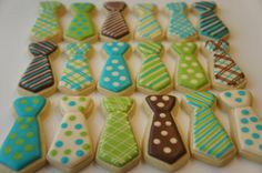 Neck tie cookies, perfect for Fathers Day (it's not technically another tie)
