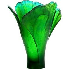 Green vase that glows with beauty