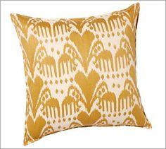 Kasari Ikat Embroidered Pillow Cover #potterybarn