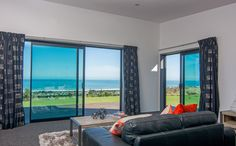 Make the most of your view with large glass sliding doors.