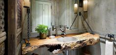 Love the rustic sink