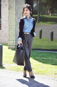 camo meets couture: polka-dots and peplum