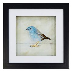 New View Blue Bird Framed Wall Art/