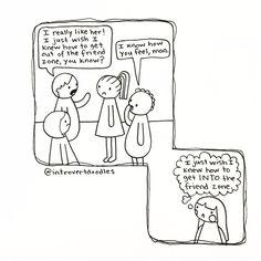 Friend zone | Introvert doodles