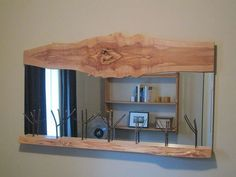 Artistic Mirror - Wood Frame - Artistic - Live Edge - Branches - Salvaged Wood